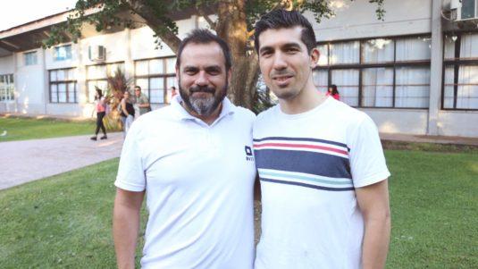 Marcelo González y Fernando Pino (INTI Lácteos)